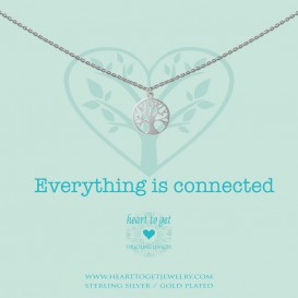 Heart to get N259TOL15S everything is connected necklace tree of life silver