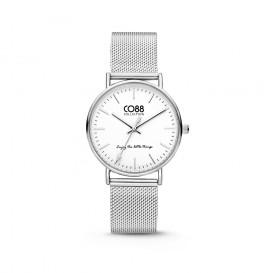 CO88 Collection 8CW-10002 - Horloge - mesh - zilverkleurig - 36 mm