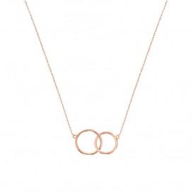Huiscollectie 4400684 rose goud collier met hanger