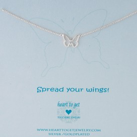 Heart to Get N97BUT13S Ketting zilver Spread your wings