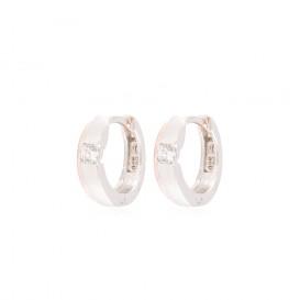 Zilveren Oorbellen klapcreolen met zirconia rosékleurig 107.5410.00