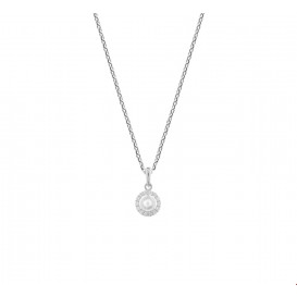 TFT Collier Witgoud Parel En Zirkonia 1,0 mm 41 + 4 cm