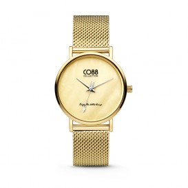 CO88 Collection 8CW-10050 - Horloge - mesh - goudkleurig - ø 32 mm