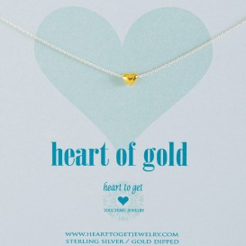 Heart to get N10HEG11S Heart of gold ketting bicolor