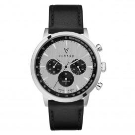 Renard Horloge RC402SS13VBK Grande Chrono silver-black-Veau black