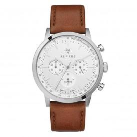 Renard Horloge RC402SS10VTA Grande Chrono silver-white-Veau tan