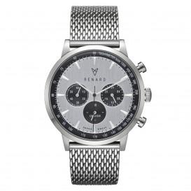 Renard Horloge RC402SS13MSS Grande Chrono Mesh silver-black
