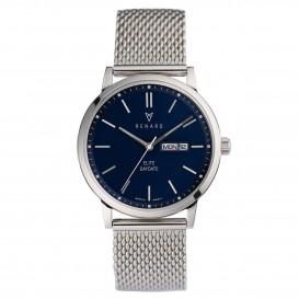 Renard Horloge RD381SS40MSS Elite Day Date Mesh silver-blue