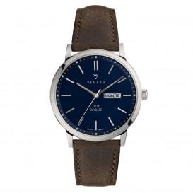 Renard Horloge RD381SS40OGR Elite Day Date Blue Dark Olive