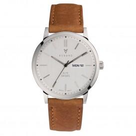 Renard Horloge RD381SS10AMB Elite Day Date Silver Amber