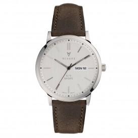 Renard Horloge RD381SS10OGR Elite Day Date Silver Dark Olive