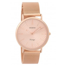 OOZOO Horloge Vintage rosékleurig mesh 36 mm C9344