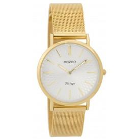 OOZOO Horloge Vintage goudkleurig mesh 32 mm C9347