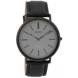 OOZOO Horloge Vintage zwart-zwart 40 mm C9319