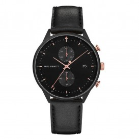 Paul Hewitt Horloge Chrono Line Black rosekleurig-zwart 42 MM PH-C-B-BSR-2M