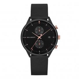 Paul Hewitt Horloge Chrono Line Black rosekleurig-zwart 42 MM PH-C-B-BSR-5M