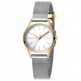 Esprit ES1L052M0085 Horloge Essential Mini Mesh 28 mm zilver- en goudkleurig