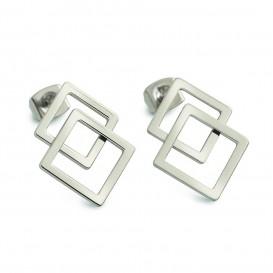 Boccia Figura Oorbellen titanium zilverkleurig 05025-01