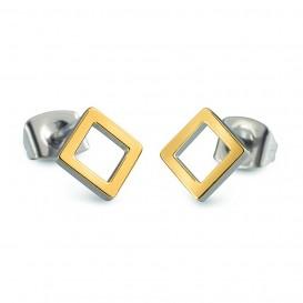 Boccia Figura Oorbellen titanium goudkleurig 05022-02
