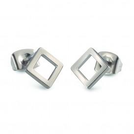 Boccia Figura Oorbellen titanium zilverkleurig 05022-01