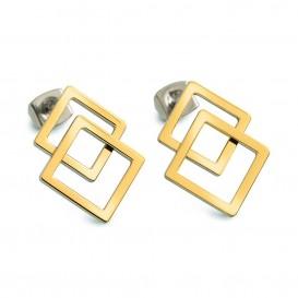 Boccia Figura Oorbellen titanium goudkleurig 05025-02