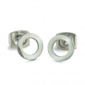 Boccia Figura Oorbellen titanium zilverkleurig 05023-01