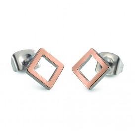 Boccia Figura Oorbellen titanium rosekleurig 05022-03