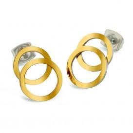 Boccia Figura Oorbellen titanium goudkleurig 05026-02