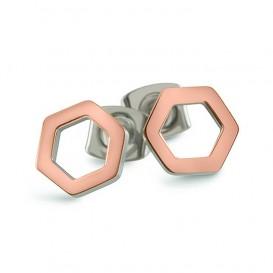 Boccia Figura Oorbellen titanium rosekleurig 05027-03