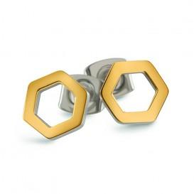 Boccia Figura Oorbellen titanium goudkleurig 05027-02