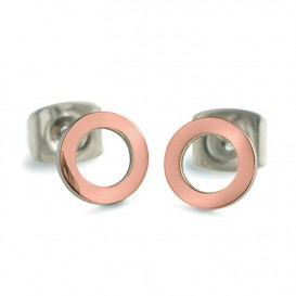 Boccia Figura Oorbellen titanium rosekleurig 05023-03