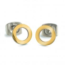 Boccia Figura Oorbellen titanium goudkleurig 05023-02