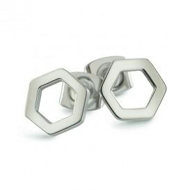 Boccia Figura Oorbellen titanium zilverkleurig 05027-01