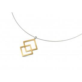 Boccia Figura Hanger titanium goudkleurig 07020-02
