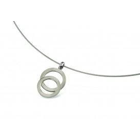 Boccia Figura Hanger titanium zilverkleurig 07021-01