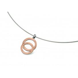 Boccia Figura Hanger titanium rosekleurig 07021-03