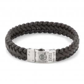 Rebel and Rose RR-L0077-S Armband Braided Raw Mat Earth 21 cm