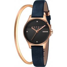 Esprit ES1L054L0045 Horloge + Armband Essential Glam Set 28 mm rosekleurig-blauw