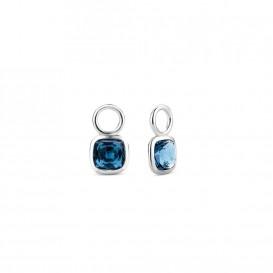 TI SENTO-Milano 9208DB Oorringcharms zilver-blauw