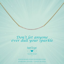 Heart to get N243CBZ15G Don't let anyone ever dull your sparkle ketting verguld
