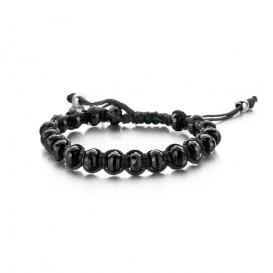 Frank 1967 Armband Rope agaat zwart/zilverkleurig one-size 7FB-0098