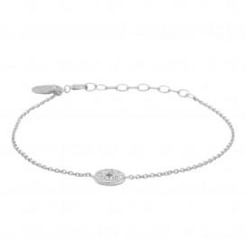 Karma 94112 Armband Morningstar Disc zilver/zirconia zilverkleurig 16-19 cm