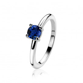 Zinzi ZIR1300Q Zilveren ring met zirkonia Maat 54 is 17.25mm