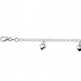 Armband Zilver Hart 15 cm