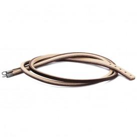 Trollbeads Armband leder bruin-lichtgrijs 45 cm TLEBR-00040