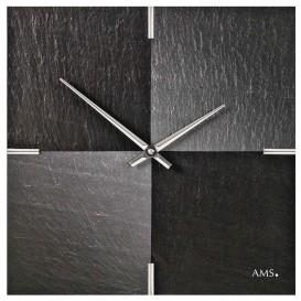 AMS 9520 Wandklok Leisteen Aluminium
