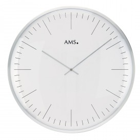 AMS Wandklok zilverkleurige rand 40 cm ø 9540