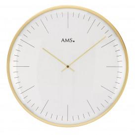 AMS Wandklok goudkleurig 40 cm ø 9541