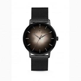 Kaliber 7KW 0011 Stalen Horloge met Mesh Band - Ø40 mm - Zwart / Zilverkleurig