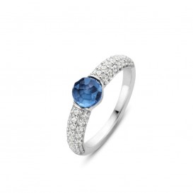TI SENTO - Milano 12112DB ring met zirkonia Maat 54 is 17.25 mm